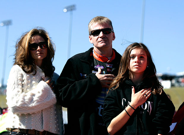 Kim & Jeff Burton (left) with their daughter Paige (right)