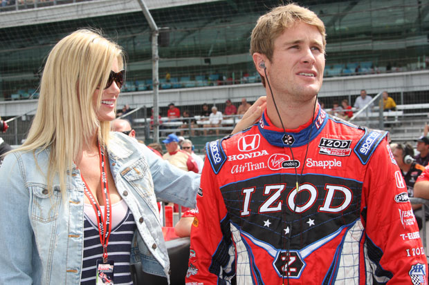 Ryan Hunter-Reay with his fiancee Beccy Gordon
